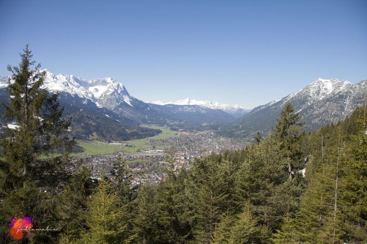 Wank Blick Zugspitze