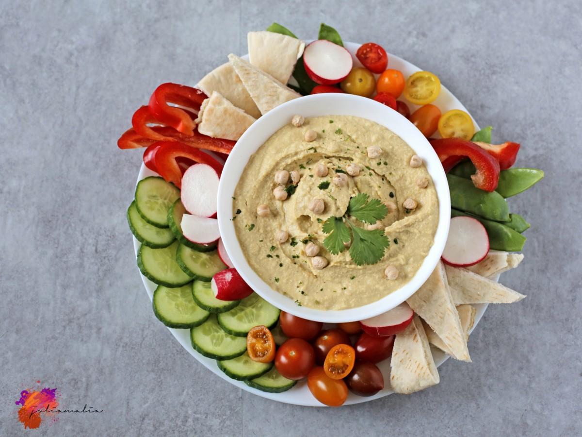 Hummus von oben