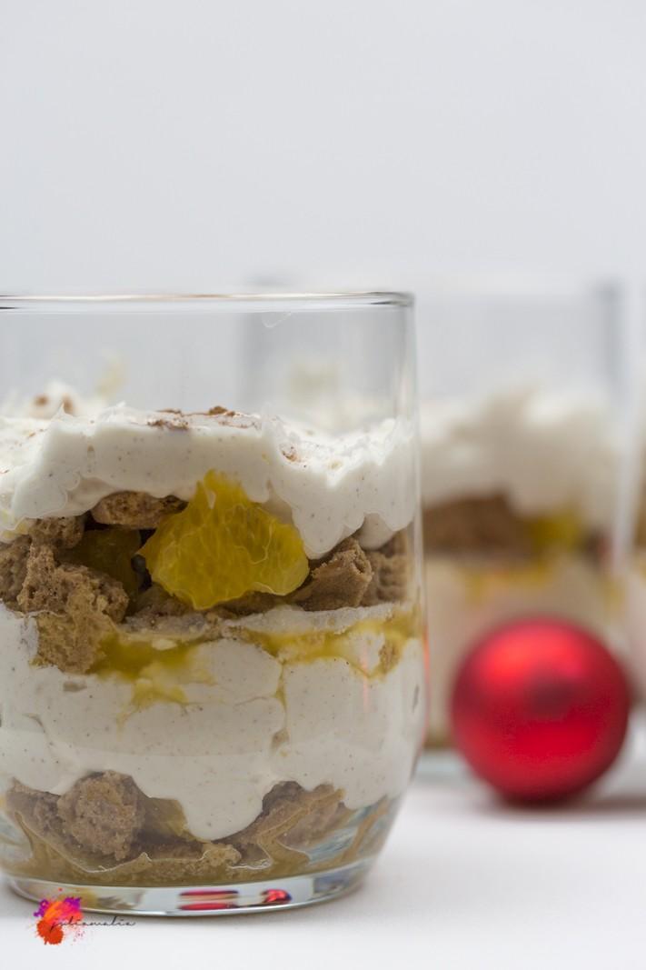weihnachtliches Dessert Spekulatius