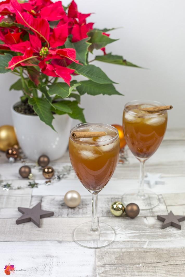 weihnachtlicher Cocktail lecker schnell einfach