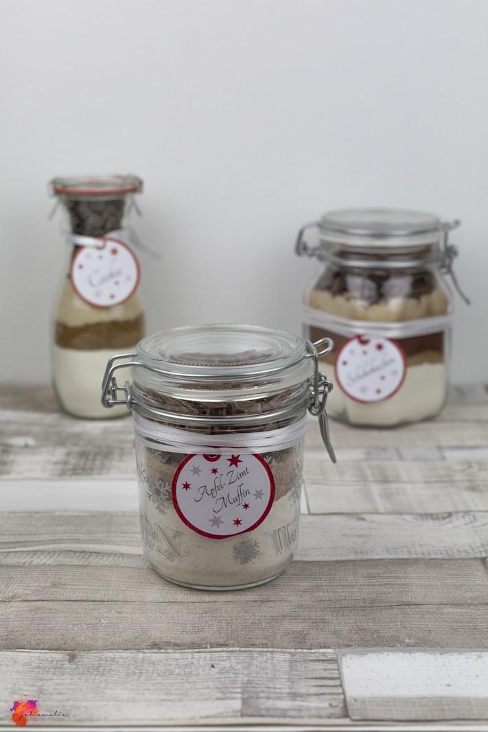 Apfel-Zimt-Muffins Rezept im Glas