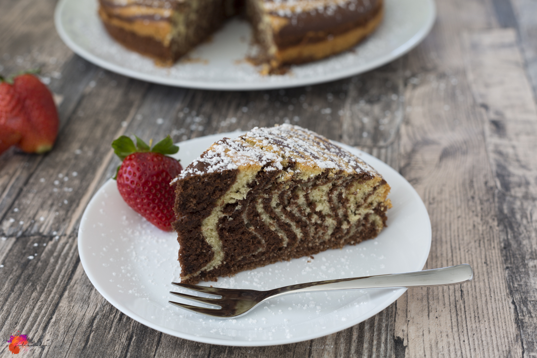 Zebra Kuchen saftig