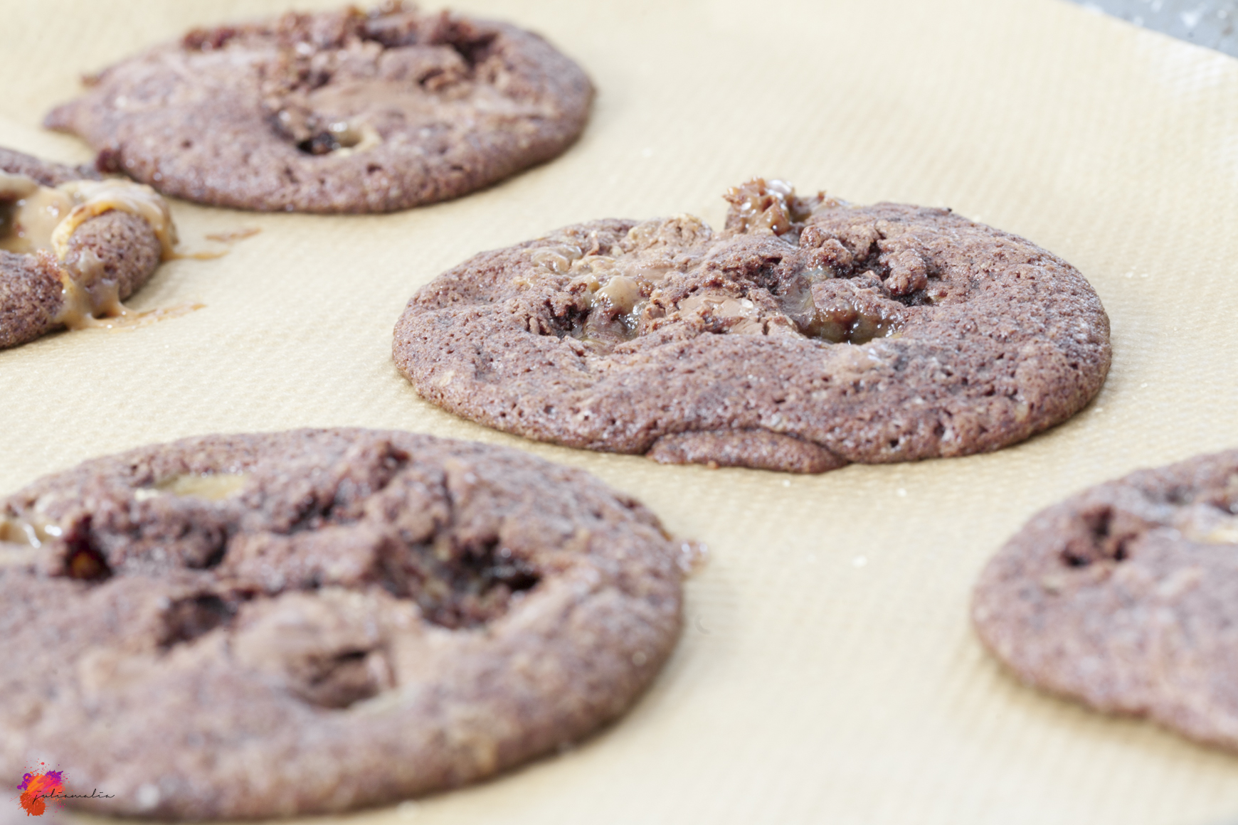Schoko Cookies und Karamell