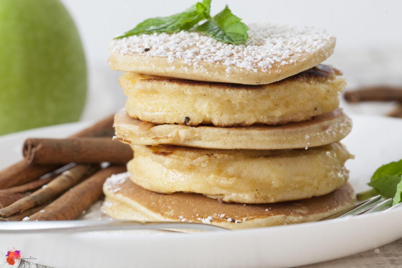 Apfelringe mit Zimt Pancakes