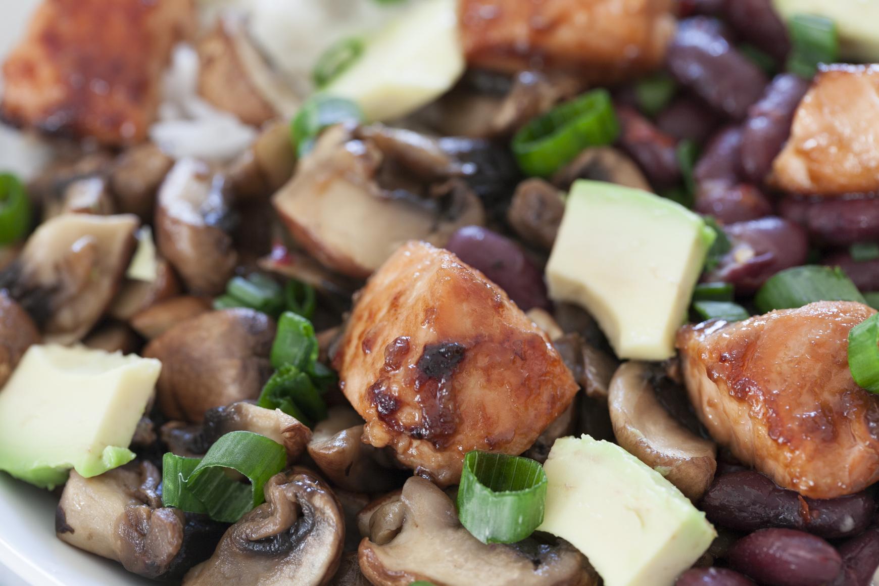 Bowl Kidneybohnen Reis