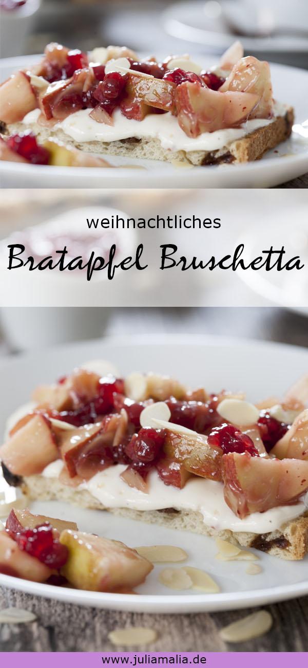 Bratapfel Bruschetta Pinterst