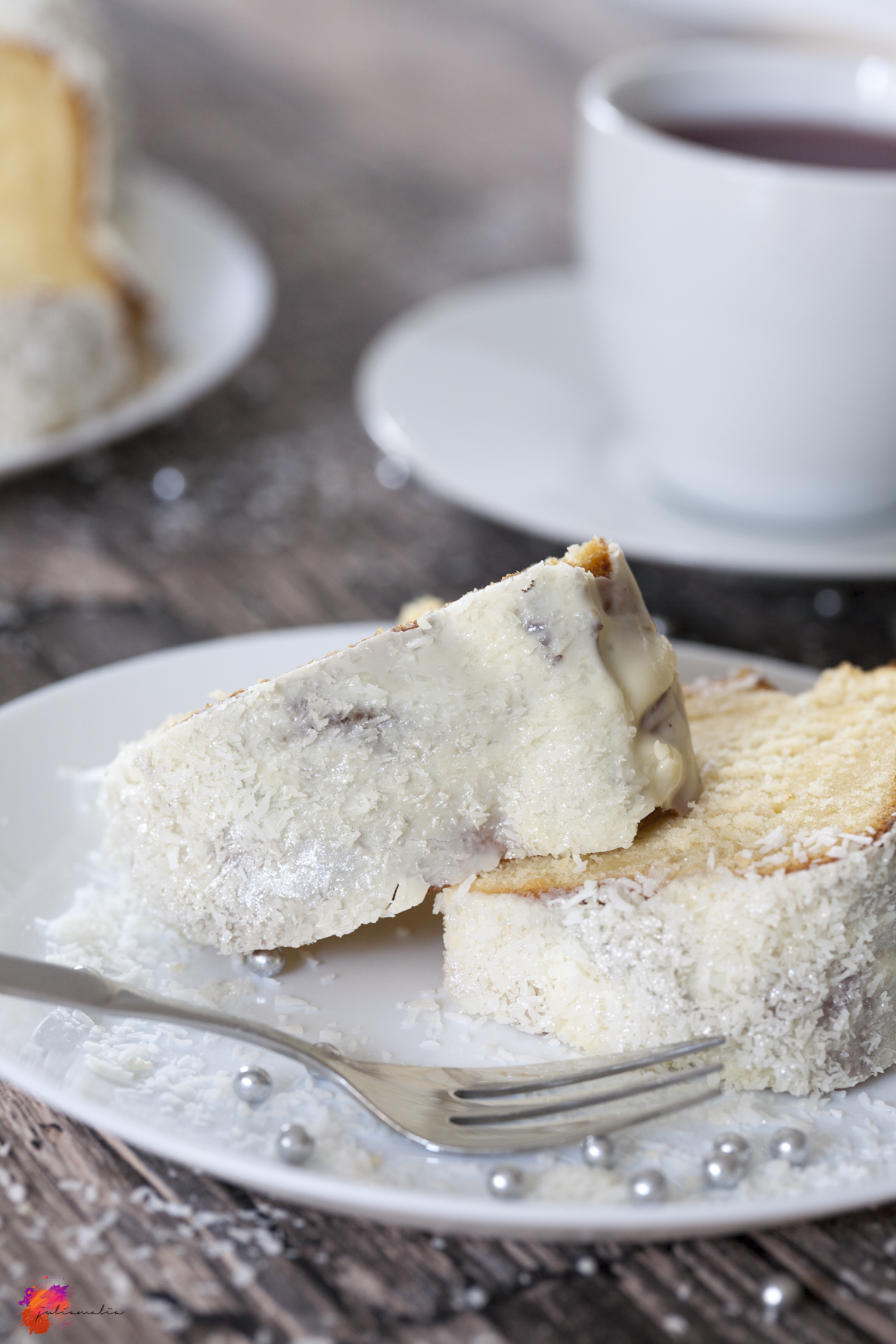Kuchen mit Schneeflocken